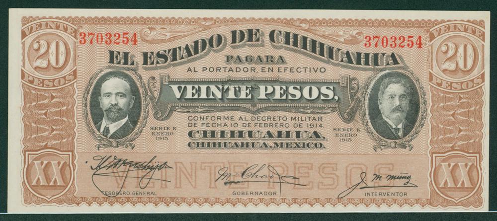 Mexico 1915 20 pesos