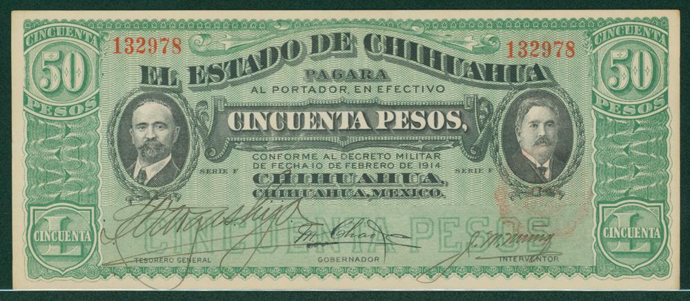 Mexico 1914 50 pesos