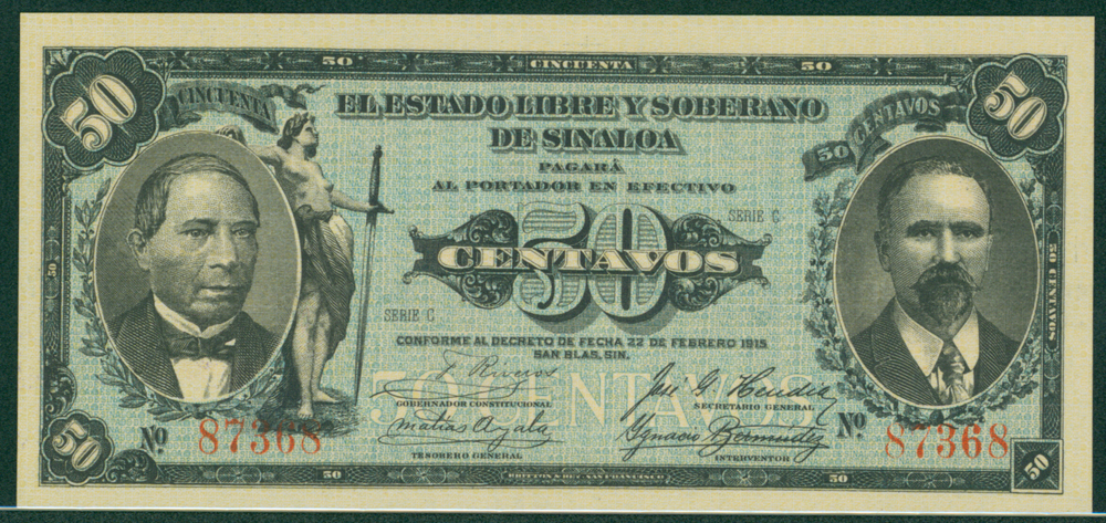 Mexico 1915 50 centavos