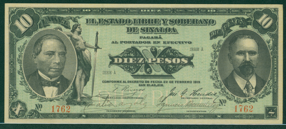 Mexico 1915 10 pesos
