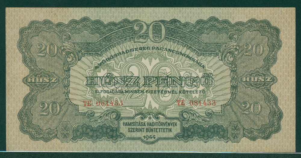Hungary 1944 20 pengo