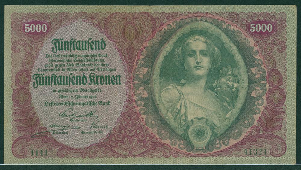 Austria 1922 5000 kronen