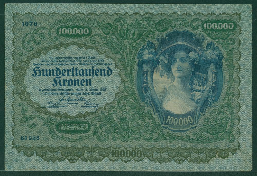 Austria 1922 100,000 kronen