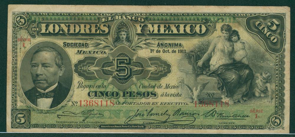 Mexico 1913 5 pesos
