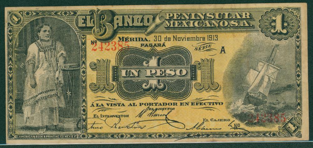 Mexico 1913 1 peso