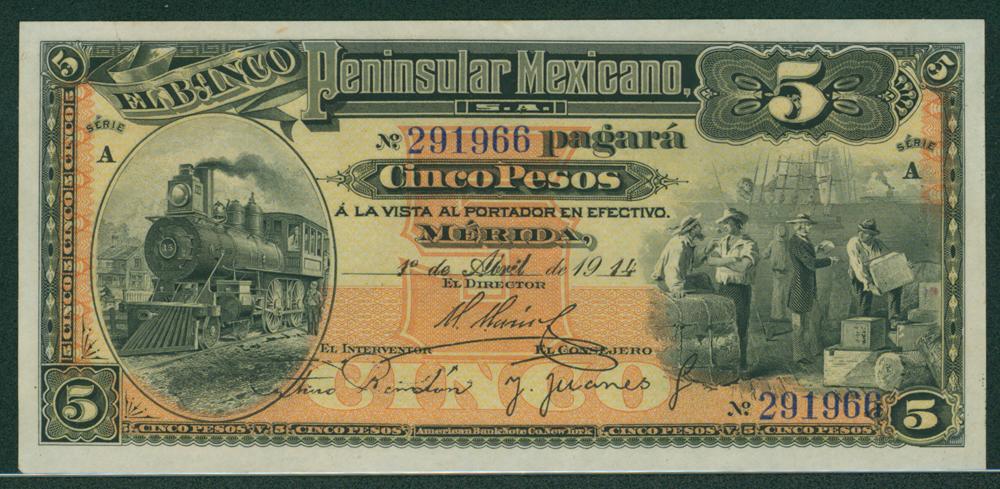 Mexico 1914 5 peso
