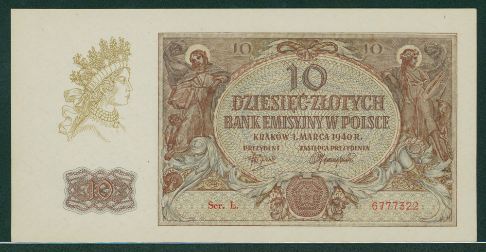 Poland 1940 10 zlotych