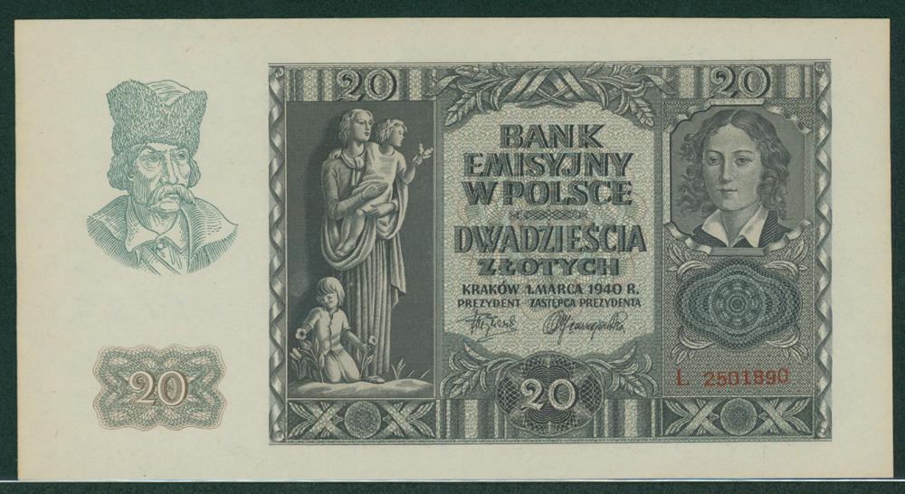 Poland 1940 20 zlotych