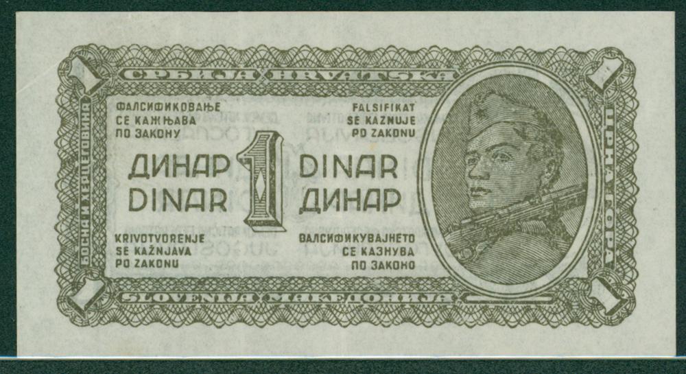 Yugoslavia 1944 1 dinar