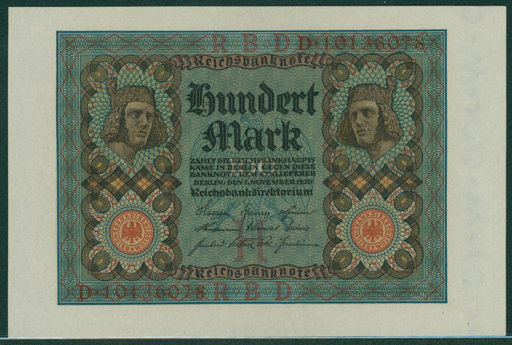 Germany 1920 100 mark
