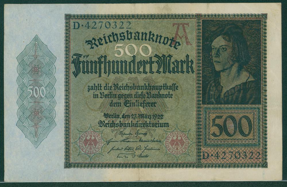 Germany 1922 500 mark