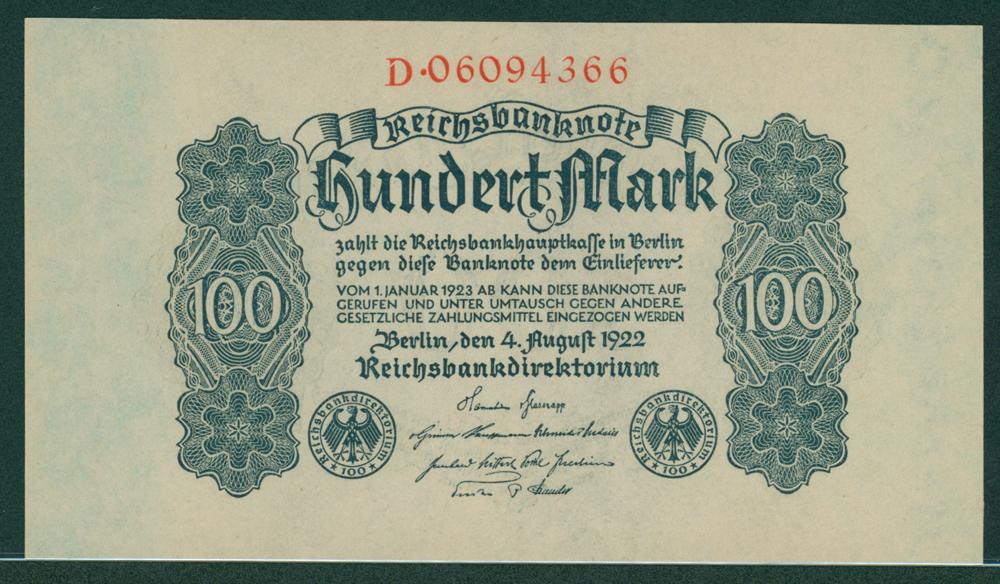 Germany 1922 100 mark