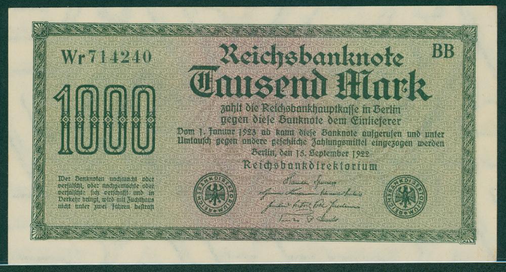 Germany 1922 1000 mark