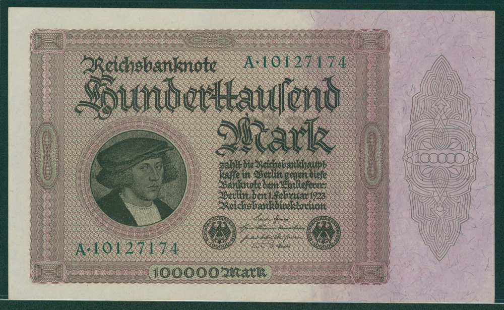 Germany 1923 100,000 mark
