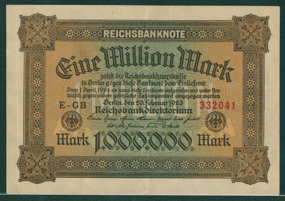 Germany 1923 1 million mark
