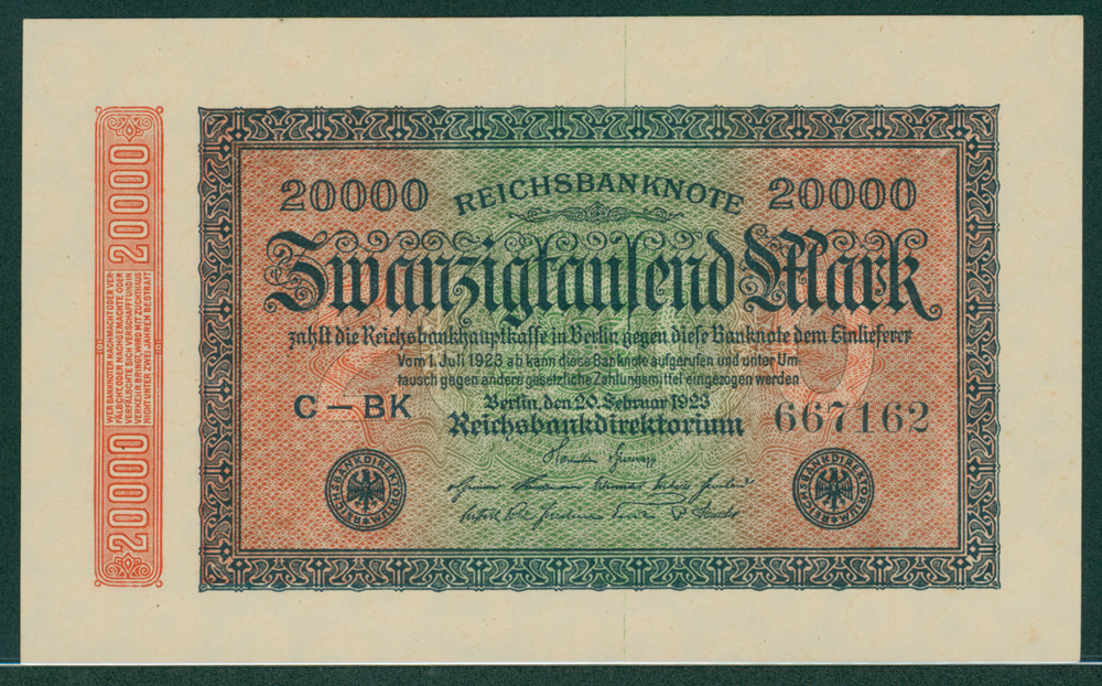 Germany 1923 20,000 mark
