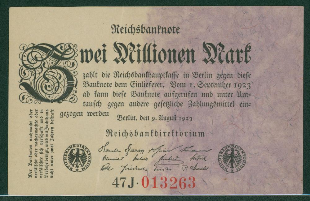 Germany 1923 2 million mark