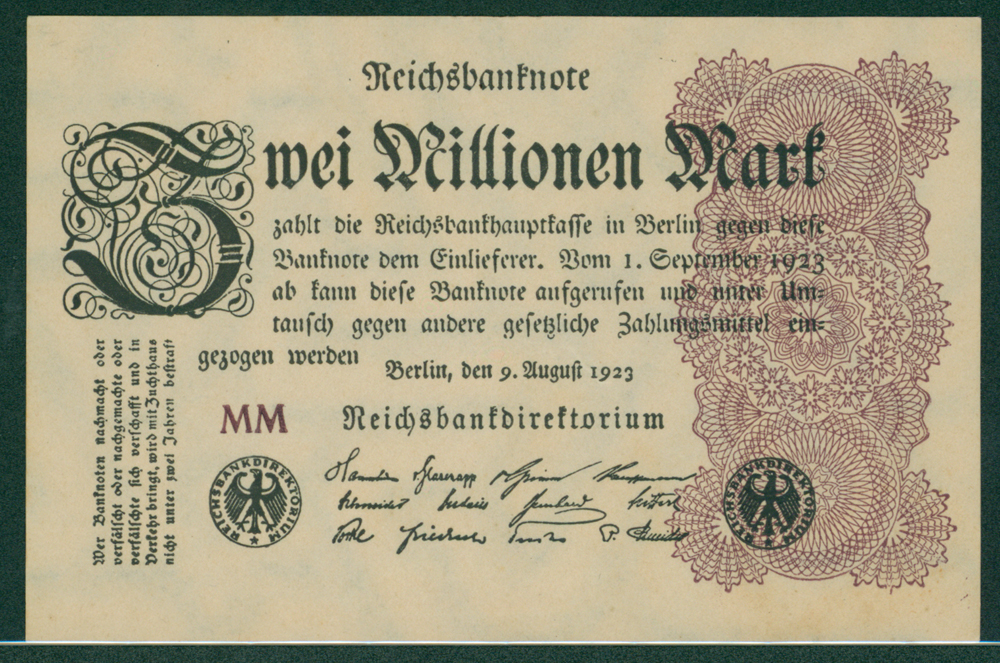 Germany 1923 2 million mark