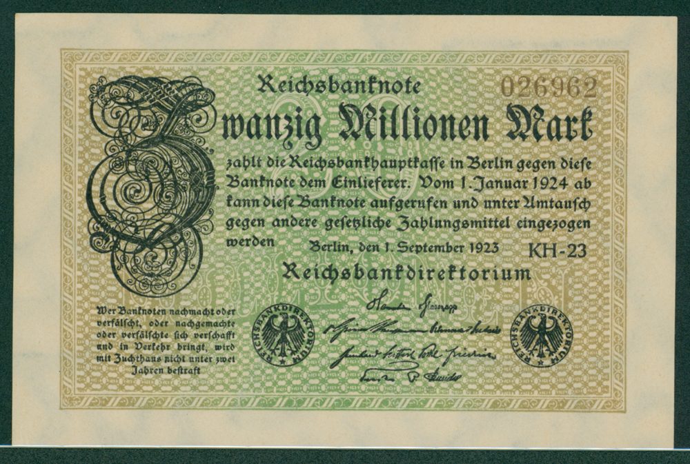 Germany 1923 20 million mark