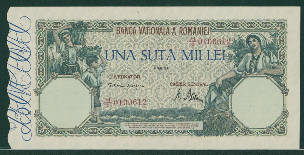 Romania 1947 100,000 lei