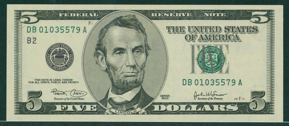 USA 2003 $5