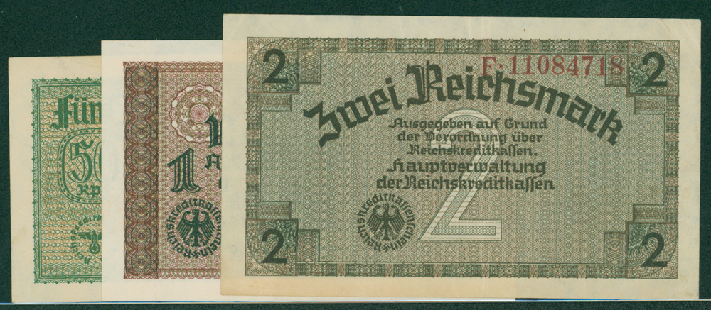 Germany 1940-45 reichs credit treasury notes