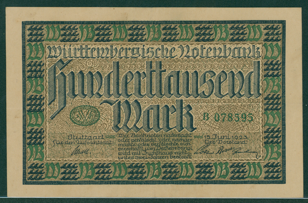 Germany Wurtemberg 1923 50,000 mark