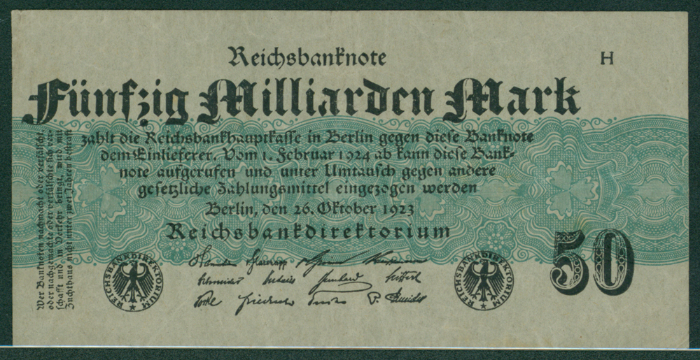 Germany 1923 50 milliarden mark