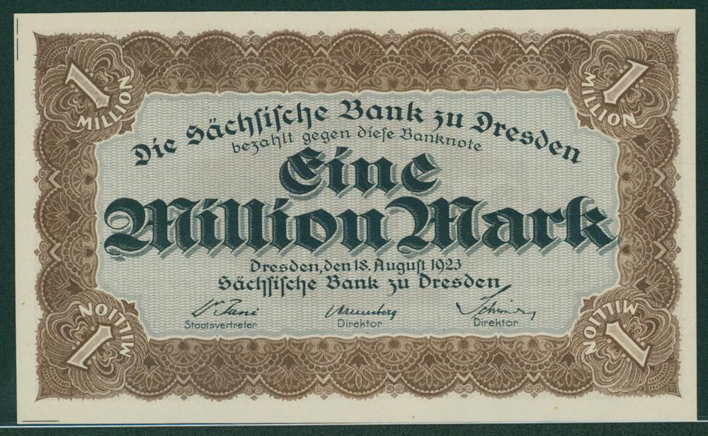 Germany Bank of Saxony 1923