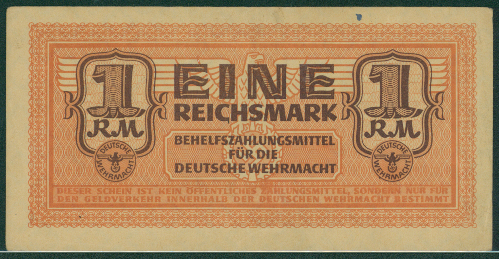 Germany Auxiliary Payment Certificate German Armed Forces 1942 1 reichsmark
