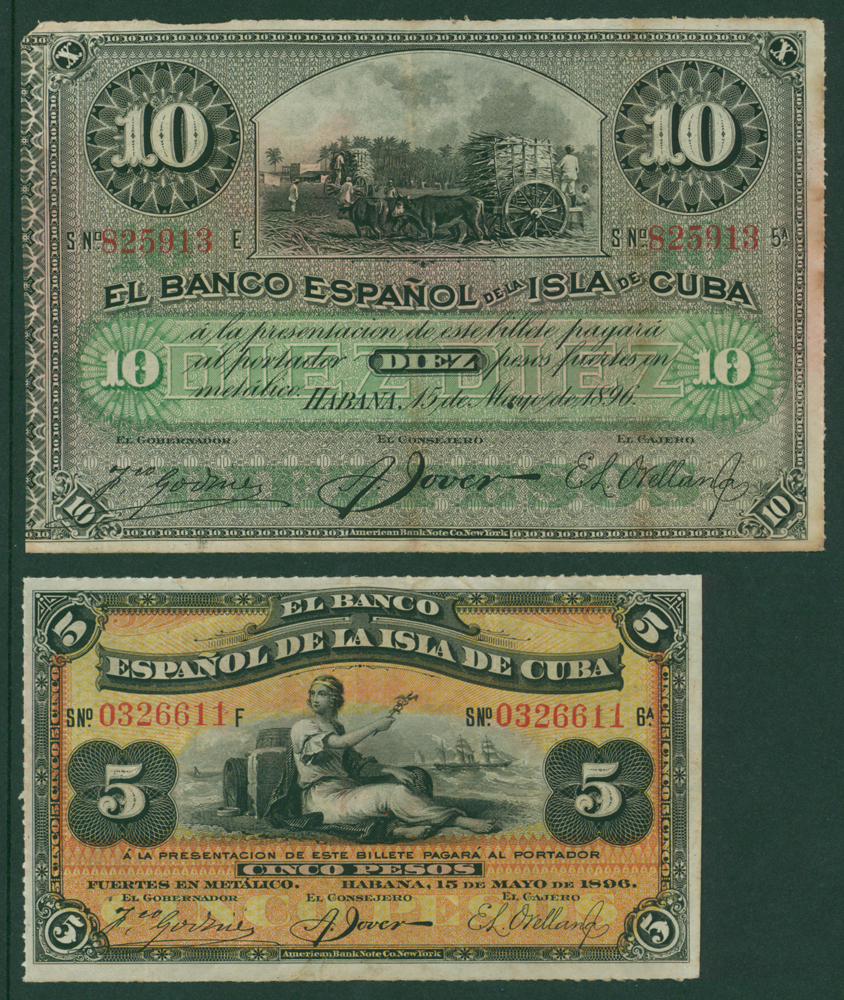 Cuba 1896 5p, 10p