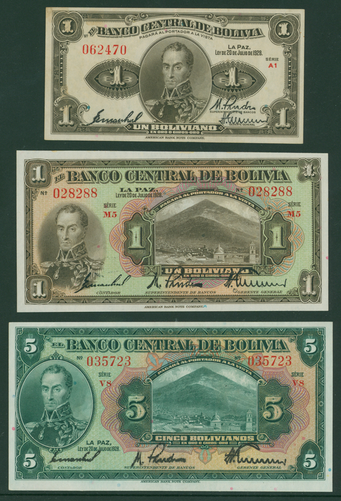Bolivia 1928 1 bolivianao