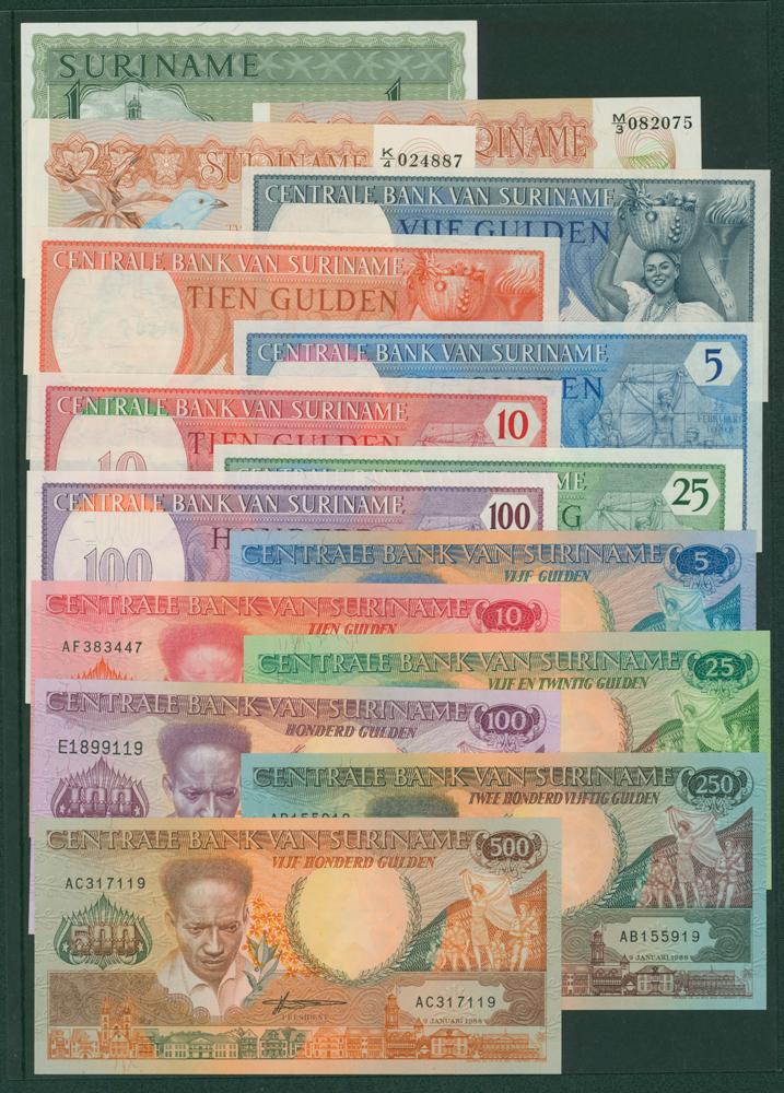 Suriname 1986 1g, 2½g, 5g, 10g, 1982 5g, 10g, 25g, 100g, 1986 5g, 10g, 25g, 100g, 250g, 500g