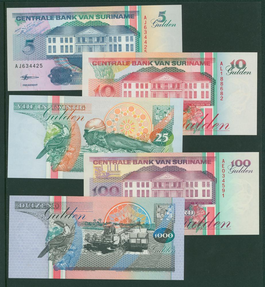 Suriname 1995 5g, 10g, 25g. 100g, 1000