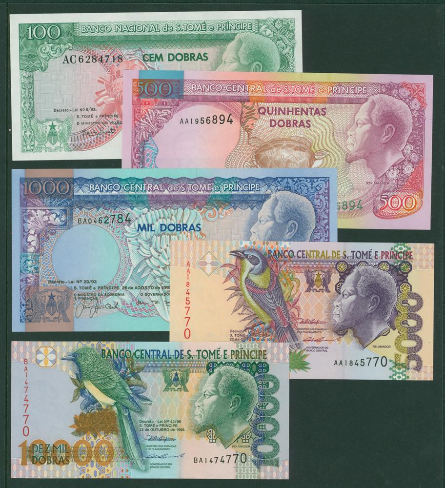 Saint Thomas and Prince 1982 100 dobras, 500d, 1000d, 5000d, 10,000d