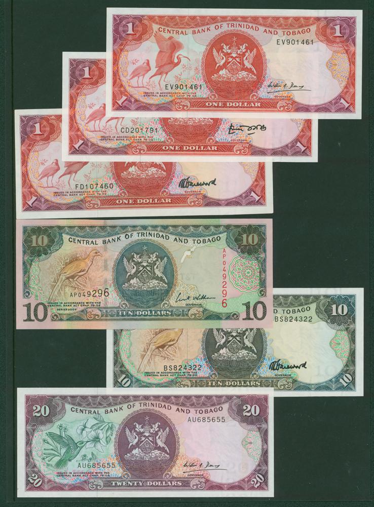 Trinidad & Tobago 1977 $1, 1985 $10, $20, 2002 $10