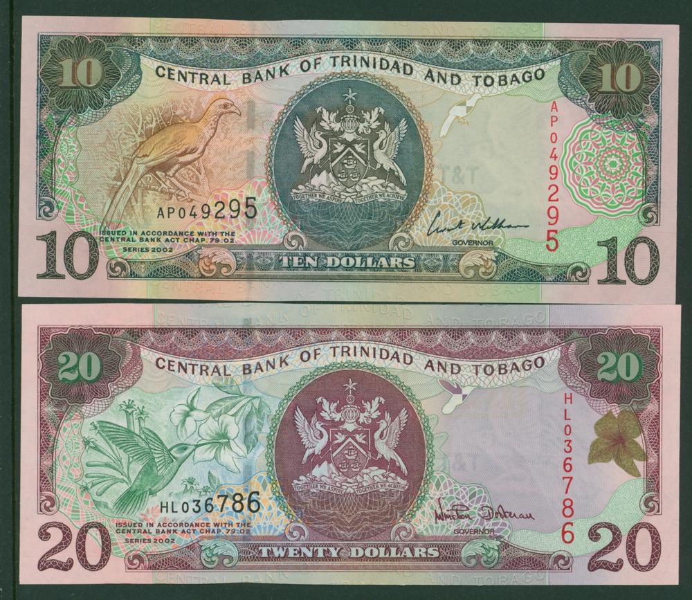 Trinidad & Tobago 2002 $10 & $10