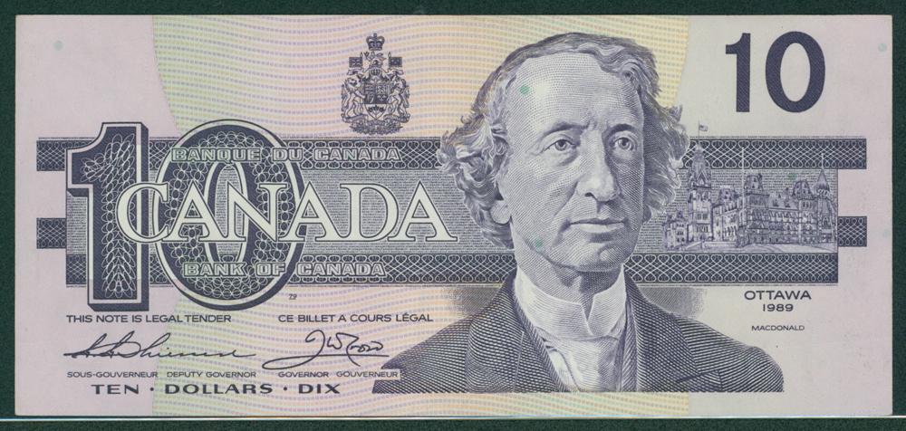 Canada 1989 $10
