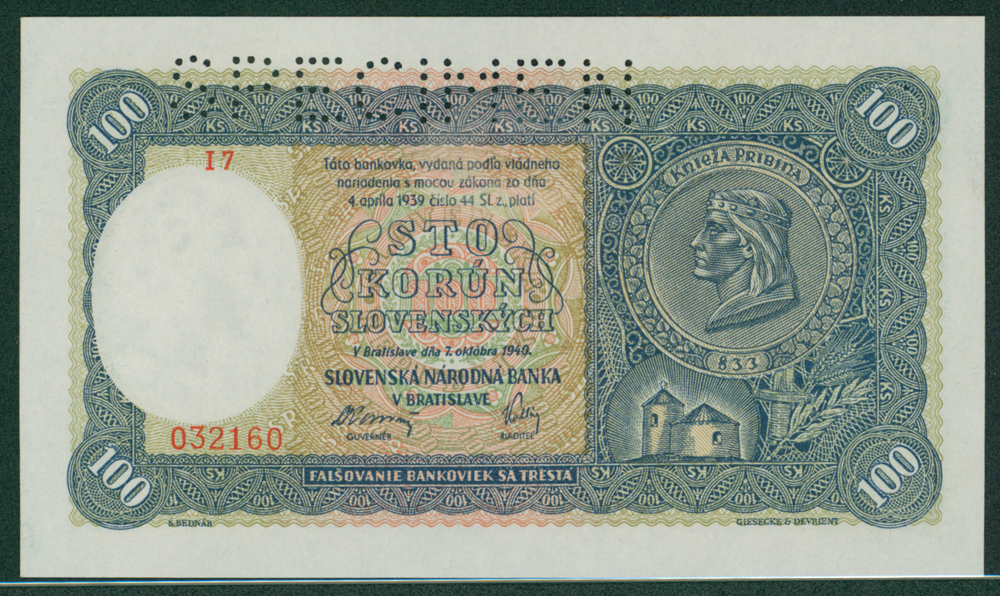 Slovakia 1940 100 korun