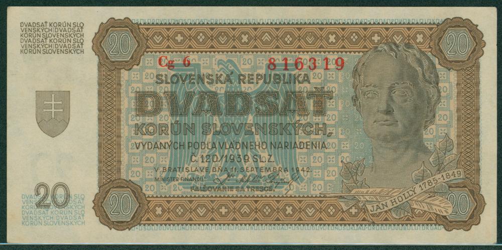 Slovakia 1942 20 korun