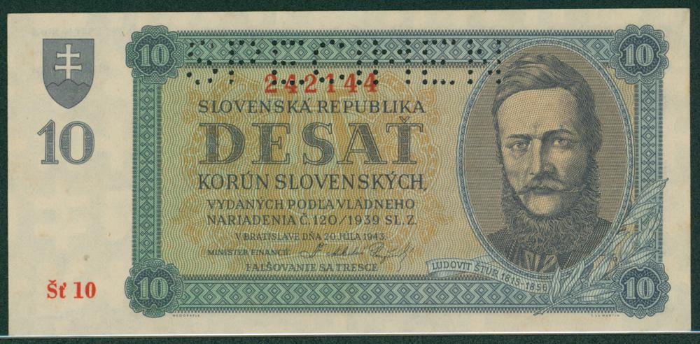 Slovakia 1943 10 korun