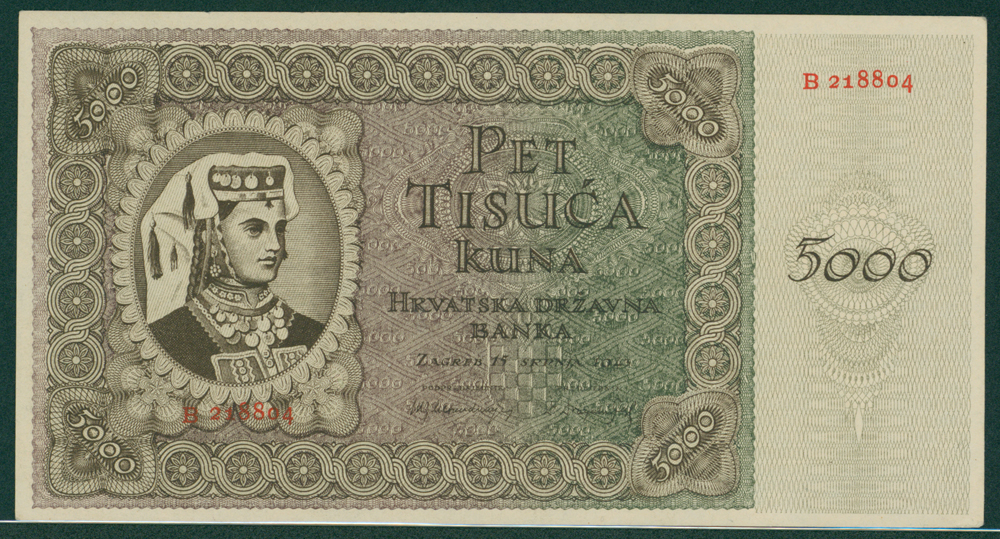 Croatia 1943 5000 kuna