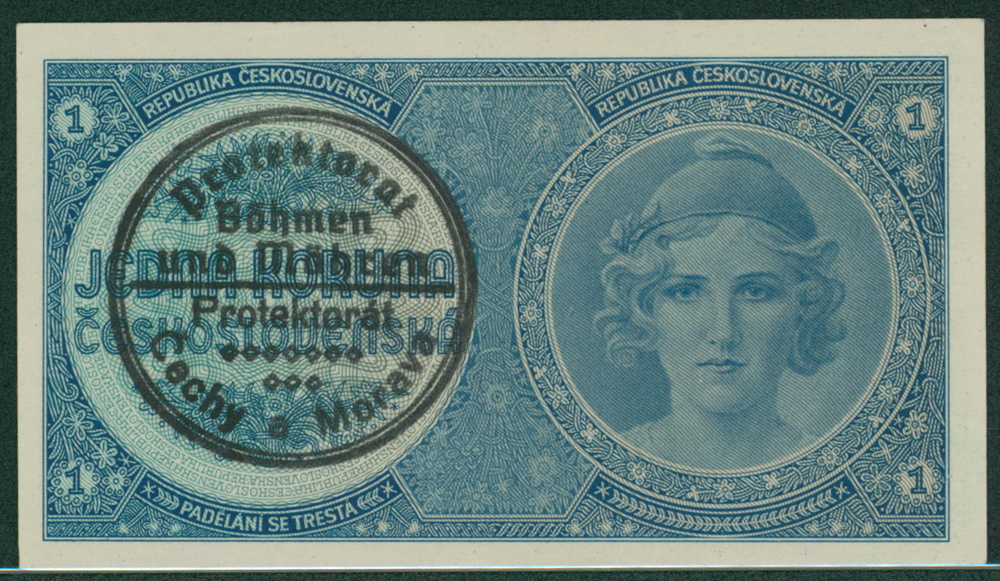 Bohemia & Moravia 1939 1 koruna
