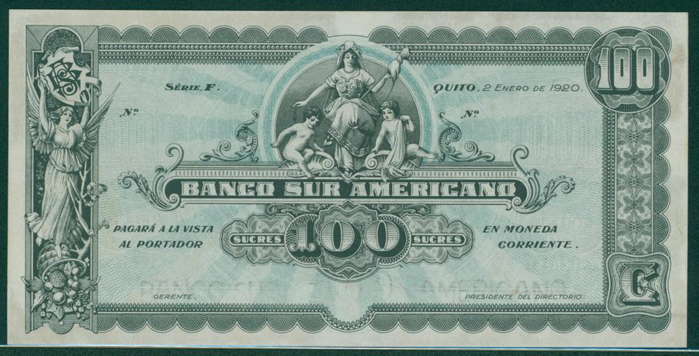 Ecuador 1920 100 sucreas