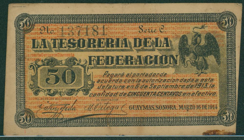 Mexico 1914 50 centavos