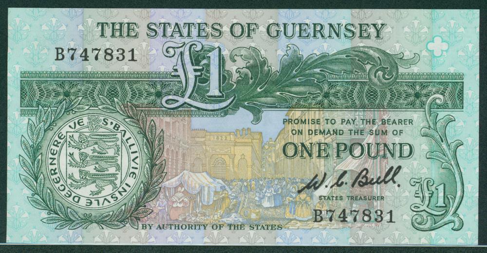 Guernsey 1980 £1 W. C. Ball