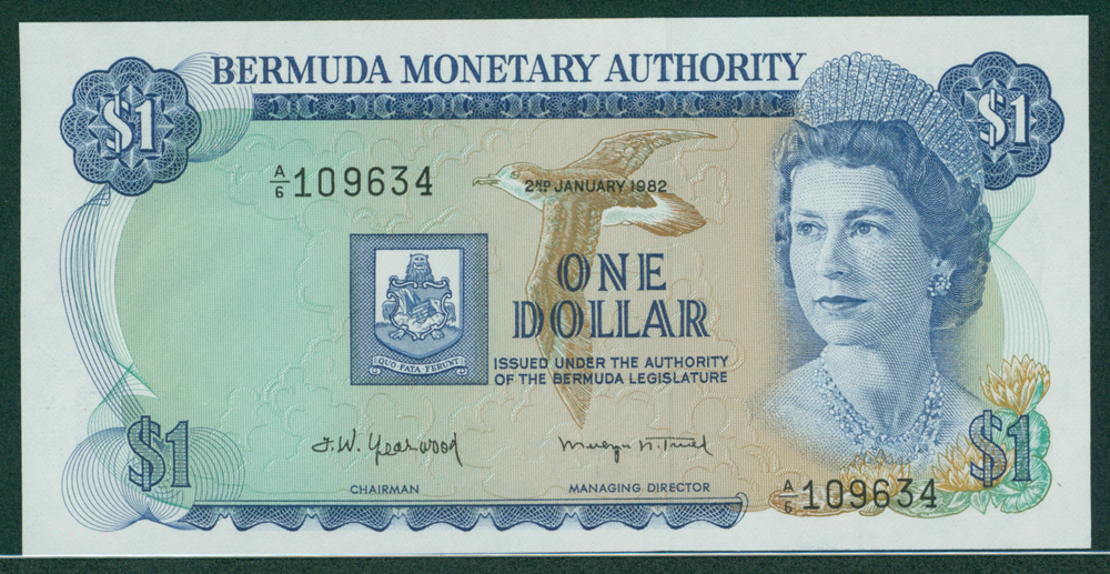 Bermuda 1982 Jan 2nd 1 Dollar