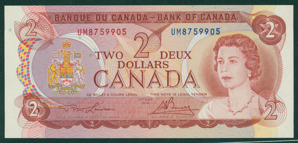 Canada 1974 2 Dollars