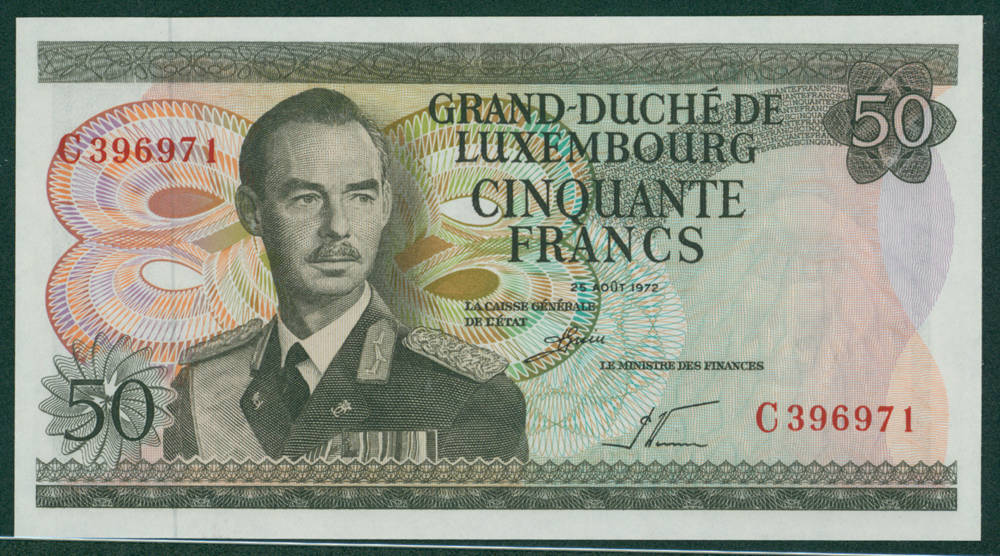 Luxembourg 1972 50 Francs