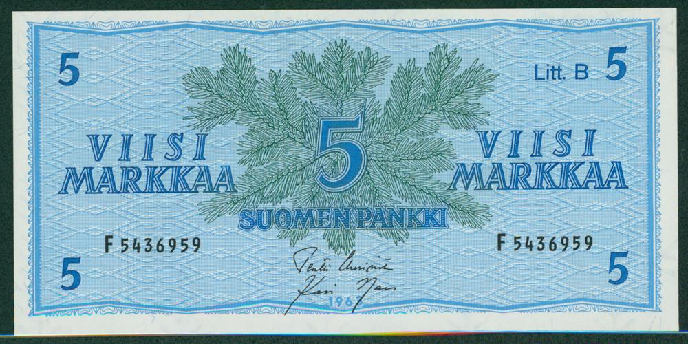 Finland 1963 5 Markkaa